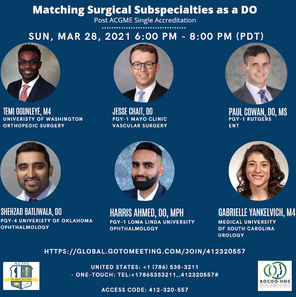 Matching Surgical Subspecialties